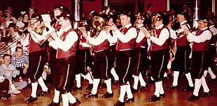 """Fasching im Hotel """"Drei Mohren"""" in Augsburg, vermittelt durch die Brauerei Ehnle, Lauterbach."""